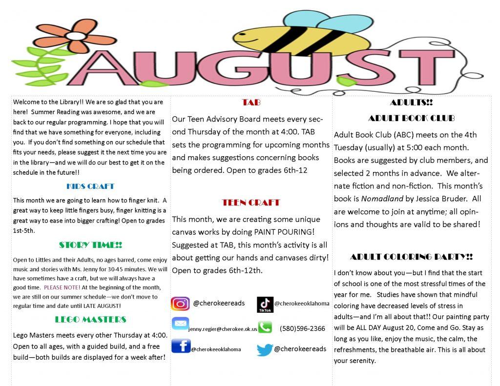 Description of the August Calendar